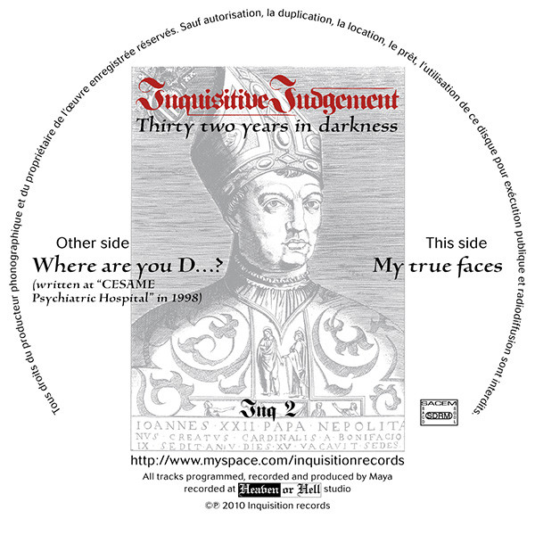 INQ 2 - INQUISITION Records - INQUISITIVE JUDGEMENT - Thirty Two Years In Darkness